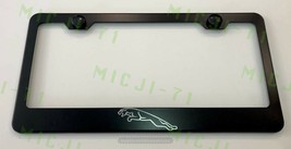 Laser Engraved Etched Jaguar Logo Stainless Steel License Plate Frame - $19.99