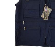 Greyhound Collection Navy Utility Multi-Pocket Zipper Lightweight Vest - 3XL image 6