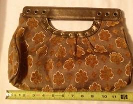 Apt 9 ROCKABILLY Magnetic Harvest colors metallic floral design small cl... - $5.88