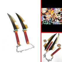 Kimetsu no Yaiba Tengen Uzui Twin Swords Cosplay Replica Weapon Props fo... - $140.00