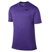 New Nike DRI-FIT Stay Cool Training Athletic Crew Neck Purple T Shirt Tee Xl - $19.79