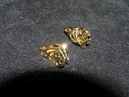 Vintage Dainty Folded Goldtone BUTTERFLY Post Earrings for Pierced Ears – - $7.69