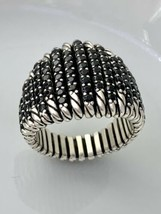David Yurman Tempo  Ring with Black Spinel in Sterling Silver Size 7  - $460.60
