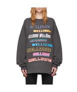 We11done Grey Front Logo Oversized Sweatshirt - $225.00