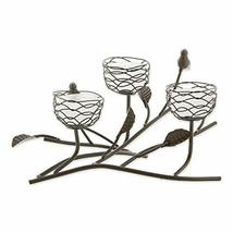 Gallery of Light Birds and Branches Triple Nest Tealight Candle Holder - $42.08