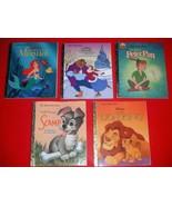 Lot of A little Golden Book Disney's Lion King Peter Pan Scamp Mermaid B... - $14.84