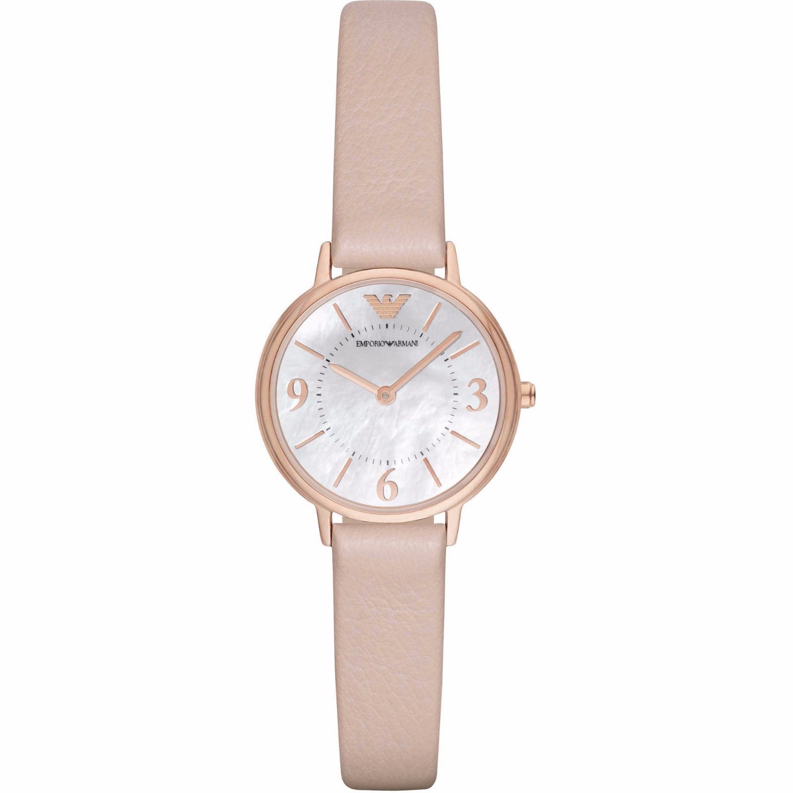 Used, Emporio Armani Watch Only Time Woman Leather Strap Ladies Watch AR2512 NWT for sale  USA