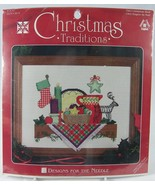 """Christmas Traditions Shelf Cross Stitch Kit 1962  9 x 12"""" Designs for th... - $14.50"""