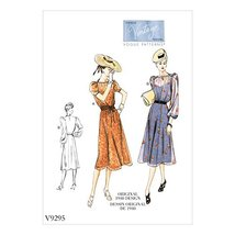 Vogue Patterns Misses' Dress, 14-16-18-20-22, Orange - $9.99