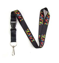 Autism Awareness Lanyard Keychain and ID Holder with Detachable, Breakaw... - $7.99
