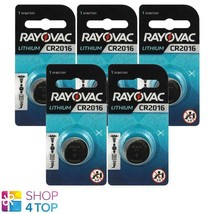 5 Rayovac CR2016 Lithium Batteries 3V Cell Coin Button Exp 2026 Indonesia New - $4.98