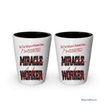 I'm a Psychiatrist shot glass- Not a Miracle Worker -Psychiatrist Gifts (2) - €15,57 EUR