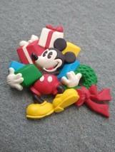 Vintage COLOR Hallmark Disney Mickey Mouse Presents Christmas Plastic Re... - $9.99