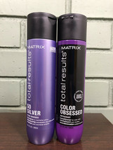Matrix Total Results So Silver Color Obsessed Shampoo & Conditioner 10.1... - $22.75
