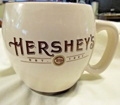 Hersheys Mug Cup Off White Brown Trim Large 15 oz  Chocolate - $10.37