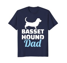 Mens Basset hound dad T-Shirt - $17.99+