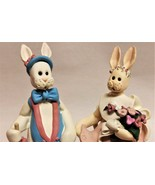 Claymation Style Mr. & Mrs. Rabbit Figurines by DCI - $8.95