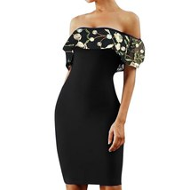 Womens dresses Elegant Embroidered Slesh Neck Slim Fit Sexy Party Dress Elegant  image 3