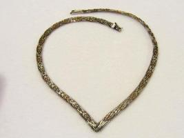 Italy sterling silver Tri Color chain 16'' Long - $70.00