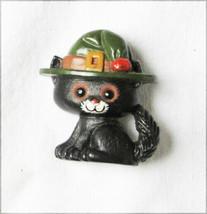 Hallmark vintage black cat Halloween pin plastic - $6.95