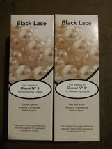 2x Black Lace by Jean Philippe like Chanel No.5 for Women 2.5 oz ea. NIB... - $15.83