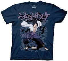 Naruto Shippuden Sasuke Curse Navy T-Shirt (Adult) Brand NEW! - $24.99