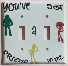 Toy Story Friends in me Light Switch Power outlet Wall Cover Plate Home decor image 4