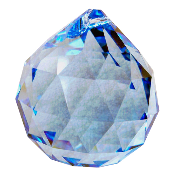 Swarvoski Strass Crystal 40mm Faceted Ball Prism  Sapphire