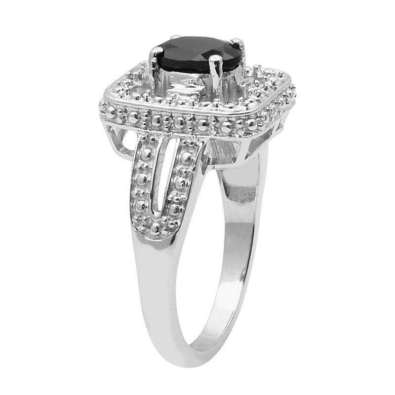 Black Spinel Gemstone 925 Sterling Silver Ring Shine Jewelry Size-9 SHRI1443