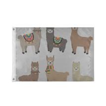 Custom Decor Flags A Lovely Brown Alpaca Flag Decor - $24.99