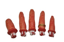 Bag of Fingers Prop 5 Bloody Haunted House Cemetery Realistic Halloween ... - £30.57 GBP