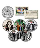 WIZARD OF OZ Movie Colorized JFK Half Dollar US 5-Coin Set *OFFICIALY LI... - $28.01