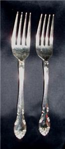 GORHAM SILVER NEW ELEGANCE SILVERPLATED (2) SALAD FORKS