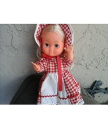 Vintage 9 inch dolls blond hair bonnet and dress two of the same - $29.69