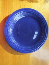 "40s vintage Fiestaware dark blue plate -  10"", A++ condition, a real bea... - $49.49"