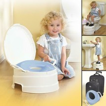 4-In-1 Soft Potties & Seats Seat Toilet Trainer Step Stool White Pastel ... - $27.89