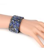 UNITED ELEGANCE Stunning Cuff Wristband With Stones & Swarovski Style Cr... - $11.99