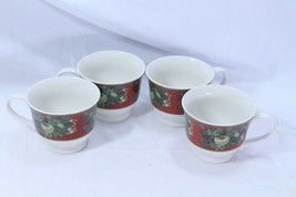 Gibson Boughs Of Holly Cups Mugs Lot of 4 - $39.19