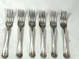 Lot Of 6 Rogers Anchor 1912 PURITAN Forks No Mono - $20.43