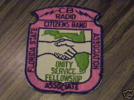 VINTAGE,CB FL STATE CITIZENS BAND ASSOC.RARE,OLD PATCH - $20.24