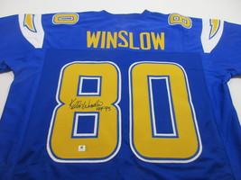 KELLEN WINSLOW / NFL HALL OF FAME / AUTOGRAPHED CHARGERS CUSTOM JERSEY / COA image 1