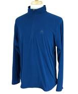 Nike Men's ACG All Conditions Gear 1/4 Zip Mock Neck Fleece Blue Shirt M... - $21.77