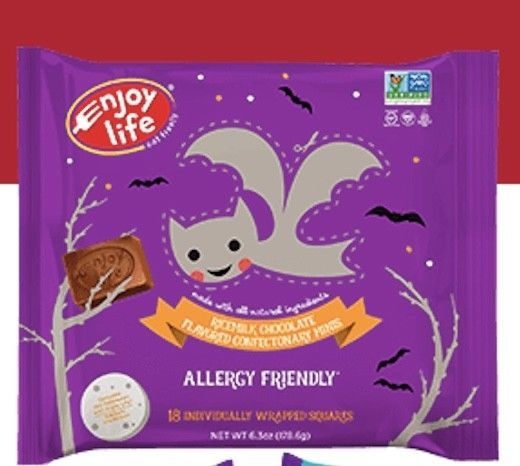 Keto: Enjoy Life Halloween rice milk chocolate minis 6.3 oz. bag (6 carb)