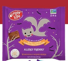 Keto: Enjoy Life Halloween rice milk chocolate minis 6.3 oz. bag (6 carb) - $20.29