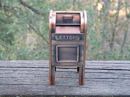 COPPER MAILBOX STILL COIN BANK - FABULOUS ITEM! - $30.00