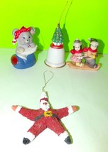 Mixed Lot Of 4 Vintage Christmas Tree Ornaments Collectibles - $5.36