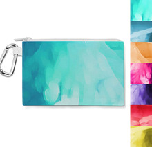 Colored Abstract Watercolor Canvas Zip Pouch - $15.99+