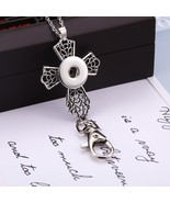 New Snap Jewelry cross 18mm Snap Buttons Key Chain Keyring with Chain sn... - $9.78