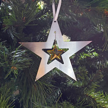 Aluminum and Crystal Star Ornament image 3