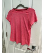 Champion Women's  Fitted Pink Athletic Workout Pink Exercise Top Size XS - $5.34